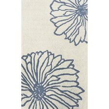 Gradient Floralina Ivory/Blue Rug