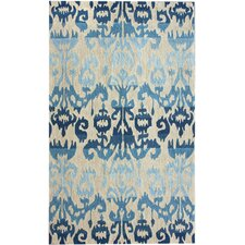 Pop Blue Ikat Area Rug