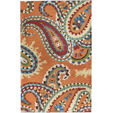 Moderna San Tropez Bold Paisleys Orange Rug