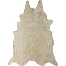 Cowhide Snow Novelty Shaped Rug