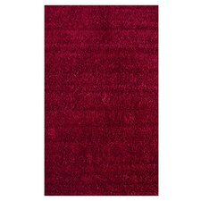 Shag Really Red Plush Rug