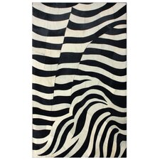 Hudson Zebra Black/White Area Rug