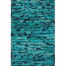 Hudson Chevron Turquoise Rug