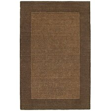 <strong>nuLOOM</strong> Bella Solid Border Chocolate Rug