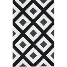 Bella Diamonds Black Rug