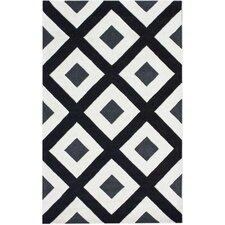Fancy Black/White Paragon Area Rug