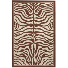 Safari Zebra Print Brown Rug