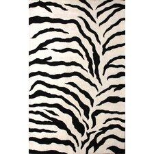 Zebra Print Black Rug