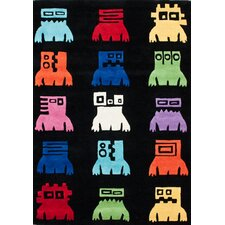 KinderLOOM Robot Black Kids Rug