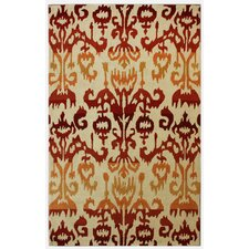 Pop Rust Ikat Rug