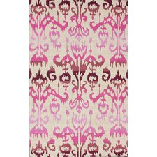 Pop Lanterns Ikat Dragon Fruit Area Rug