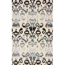 Pop Lanterns Ikat Caviar Rug
