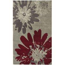 Pop Bold Floral Grey Area Rug