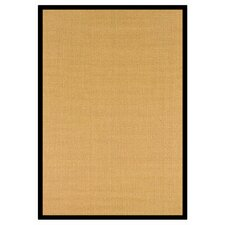 Natura Sisal Herringbone Black/Yellow Area Rug
