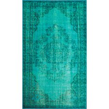 <strong>nuLOOM</strong> Remade Distressed Overdyed Turquoise Rug