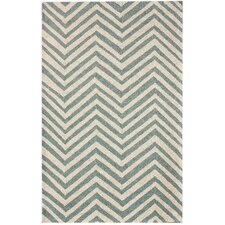 Trellis Light Blue Chevron Rug