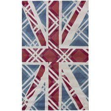 Modella England Flag Blue Novelty Rug