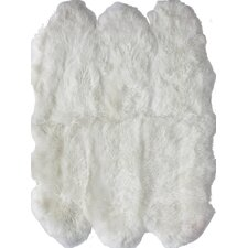 Sheepskin Shag Next to Sheepskin Natural 6 Pelt Indoor Area Rug