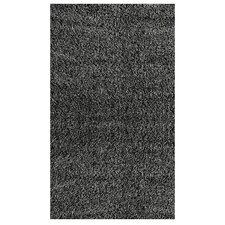 Shag Black/Grey Plush Area Rug