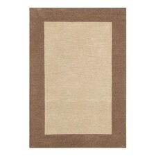 Natura Solo Thick Border Taupe Rug