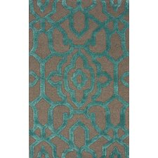 Fancy Charcoal Ornate Trellis Area Rug