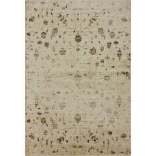 Flux Shag Natural Open Field Rug