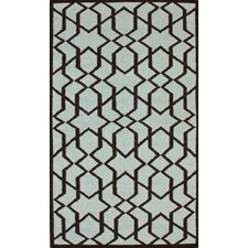 Gelim Trellis Light Blue Geometric Area Rug