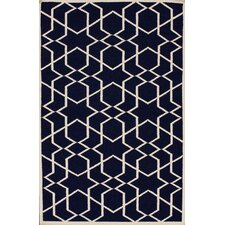 Gelim Denim Geometric Trellis Area Rug