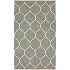 Gelim Light Grey Trellis Rug