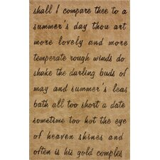 Natura Natural Script Poem Novelty Rug