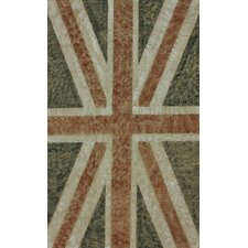 Natura Blue Union Jack Stripes Novelty Rug