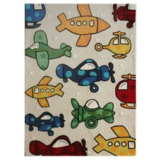 Kinder Natural Planes Kids Rug