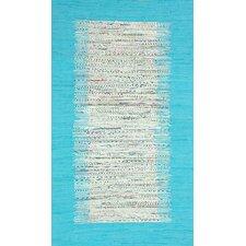 Munegu Turquoise Talia Rag Rug