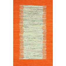 Munegu Orange Talia Rag Area Rug