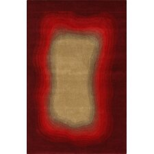 Modella Red Ombre Border Rug