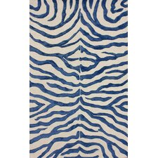 Earth Regal Blue Plush Safari Area Rug