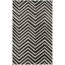 Trellis Black Chevron Rug