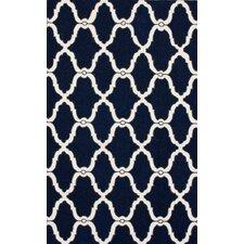 Trellis Navy Moroccan Rug