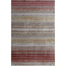 Cine Red Multi Striped Rug