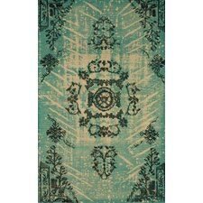 Natural Kolor Turquoise Area Rug
