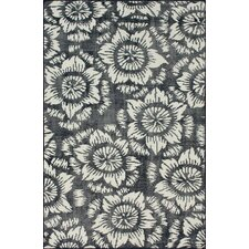 Overdye Navy Water Lily Area Rug