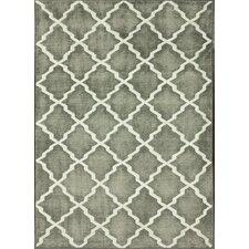 Overdye Grey Moroccan Trellis Rug