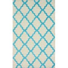 Moderna Moroccan Trellis Turquoise Area Rug