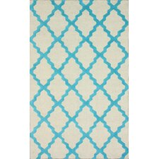 Moderna Turquoise Moroccan Trellis Rug