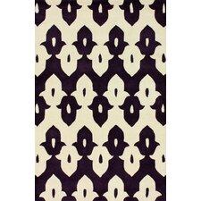 Moderna Purple Ikat Trellis Rug