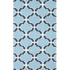 Trellis Blue Ryan Rug
