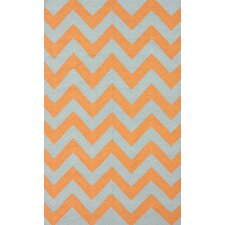 <strong>nuLOOM</strong> Moderna Orange Chevron Rug