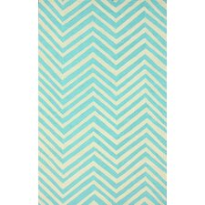 Trellis Blue Chevron Area Rug