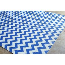 Brilliance Royal Blue Mini Chevon Rug