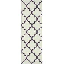 Fancy Violet/Beige Edison Area Rug